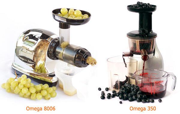 шнековые соковыжималки Omega 8006 и Omega 350